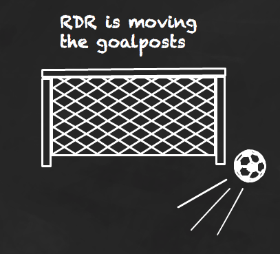 RDR is moving the goalposts